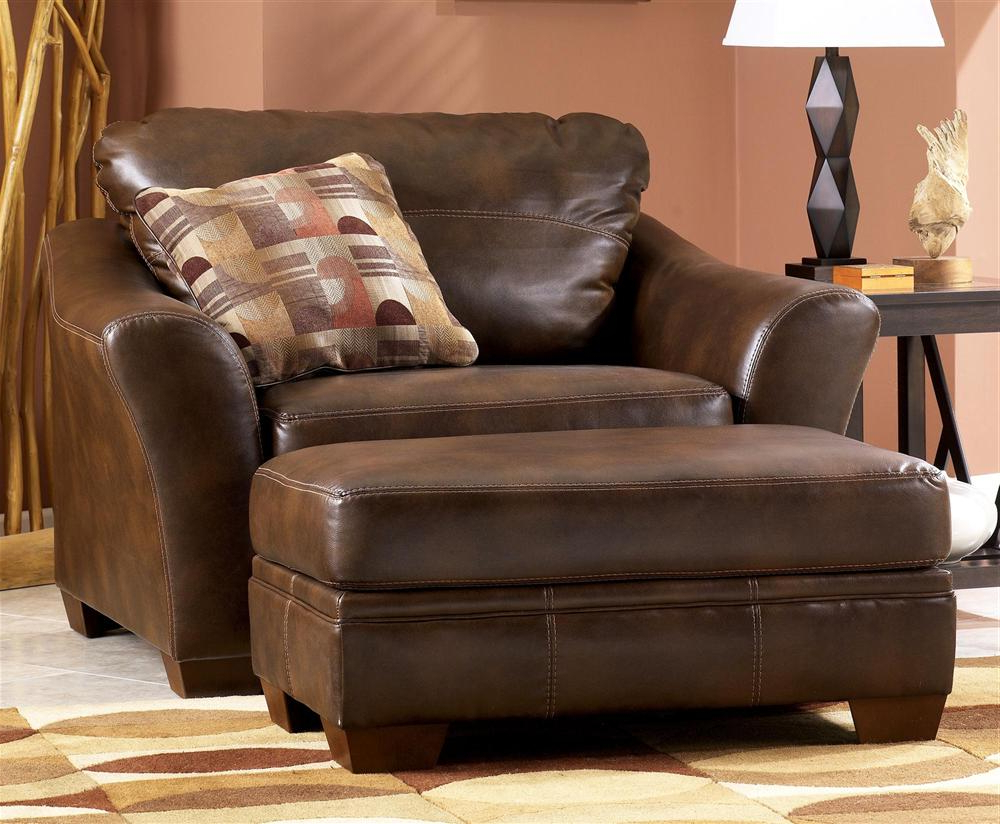 Leather Oversized Living Room Chair : Amberyin Decors – More Ideas In Most Popular Living Room Sofas And Chairs (View 5 of 20)
