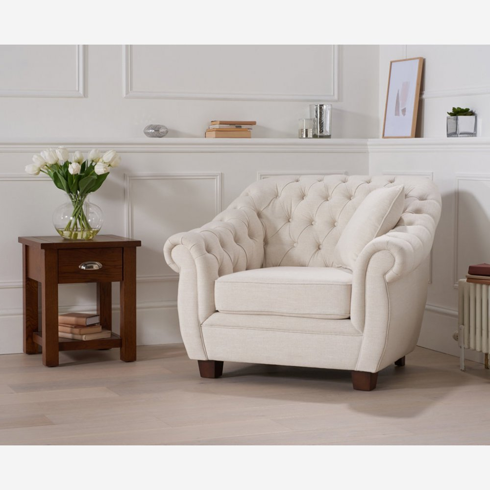 Liv Fabric Armchair – Ivory Intended For Well Known Liv Arm Sofa Chairs (Gallery 1 of 20)