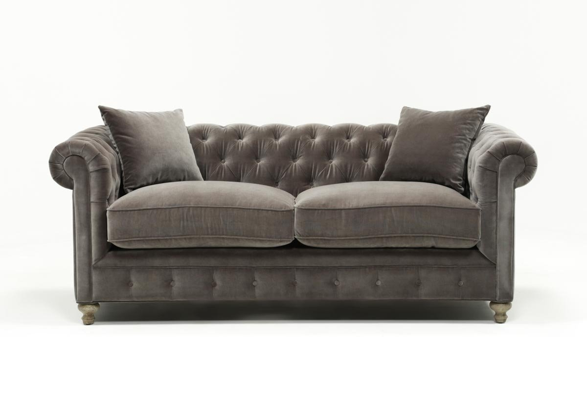 Featured Photo of Mansfield Graphite Velvet Sofa Chairs