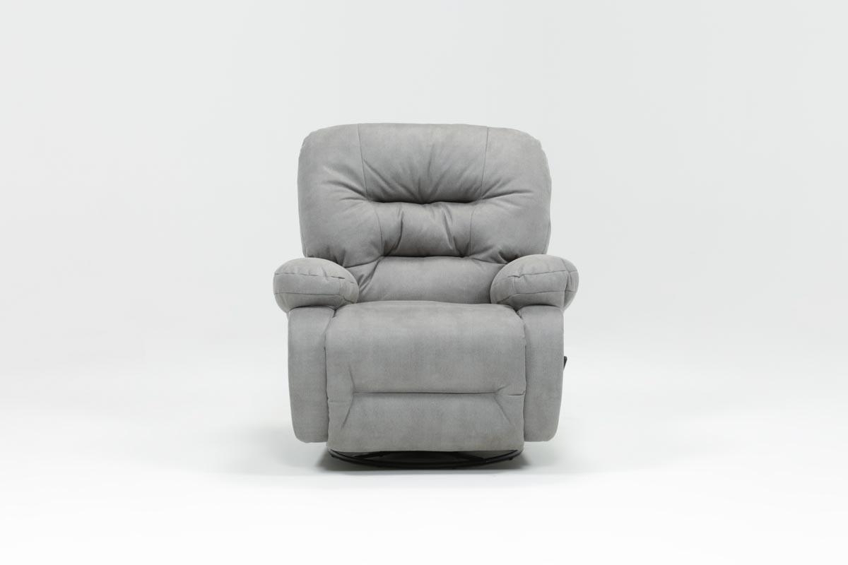 Featured Photo of Decker Ii Fabric Swivel Glider Recliners