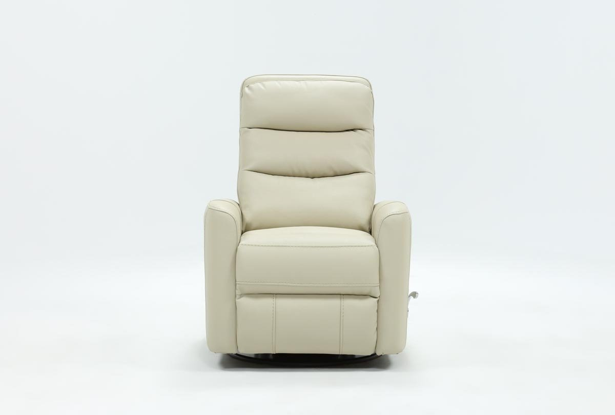 Living Spaces For Recent Hercules Oyster Swivel Glider Recliners (Gallery 1 of 20)
