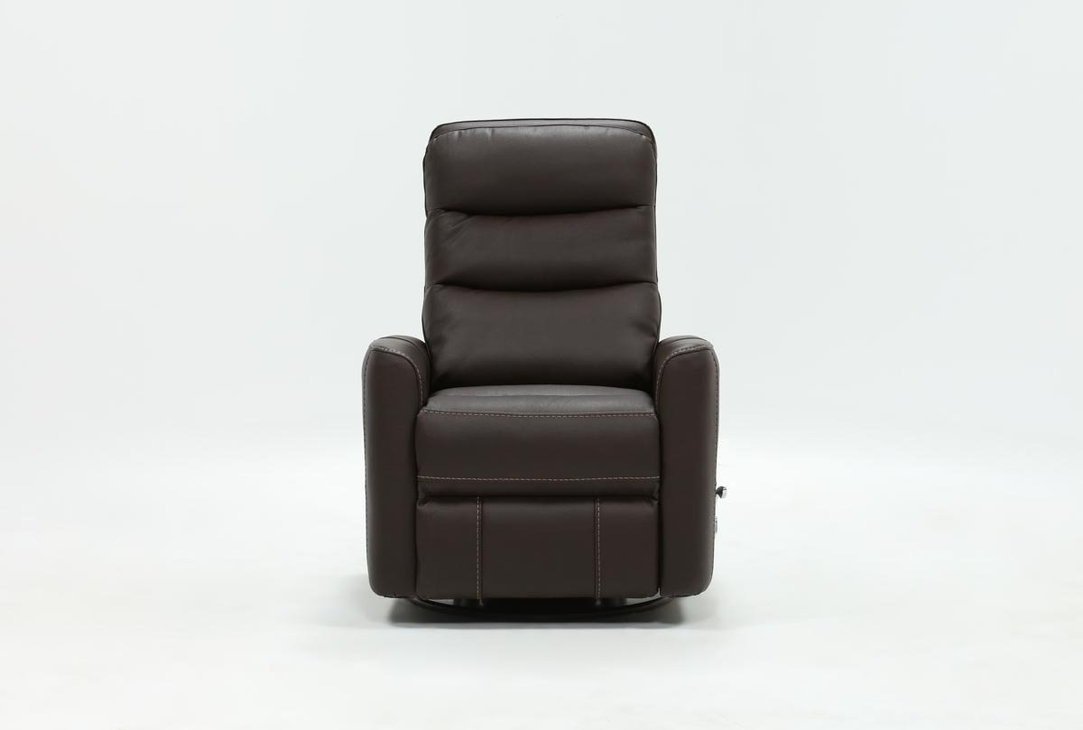 Living Spaces Intended For Best And Newest Hercules Oyster Swivel Glider Recliners (View 16 of 20)
