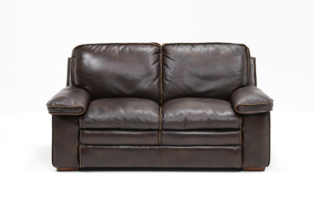 Living Spaces Pertaining To Walter Leather Sofa Chairs (Gallery 8 of 20)