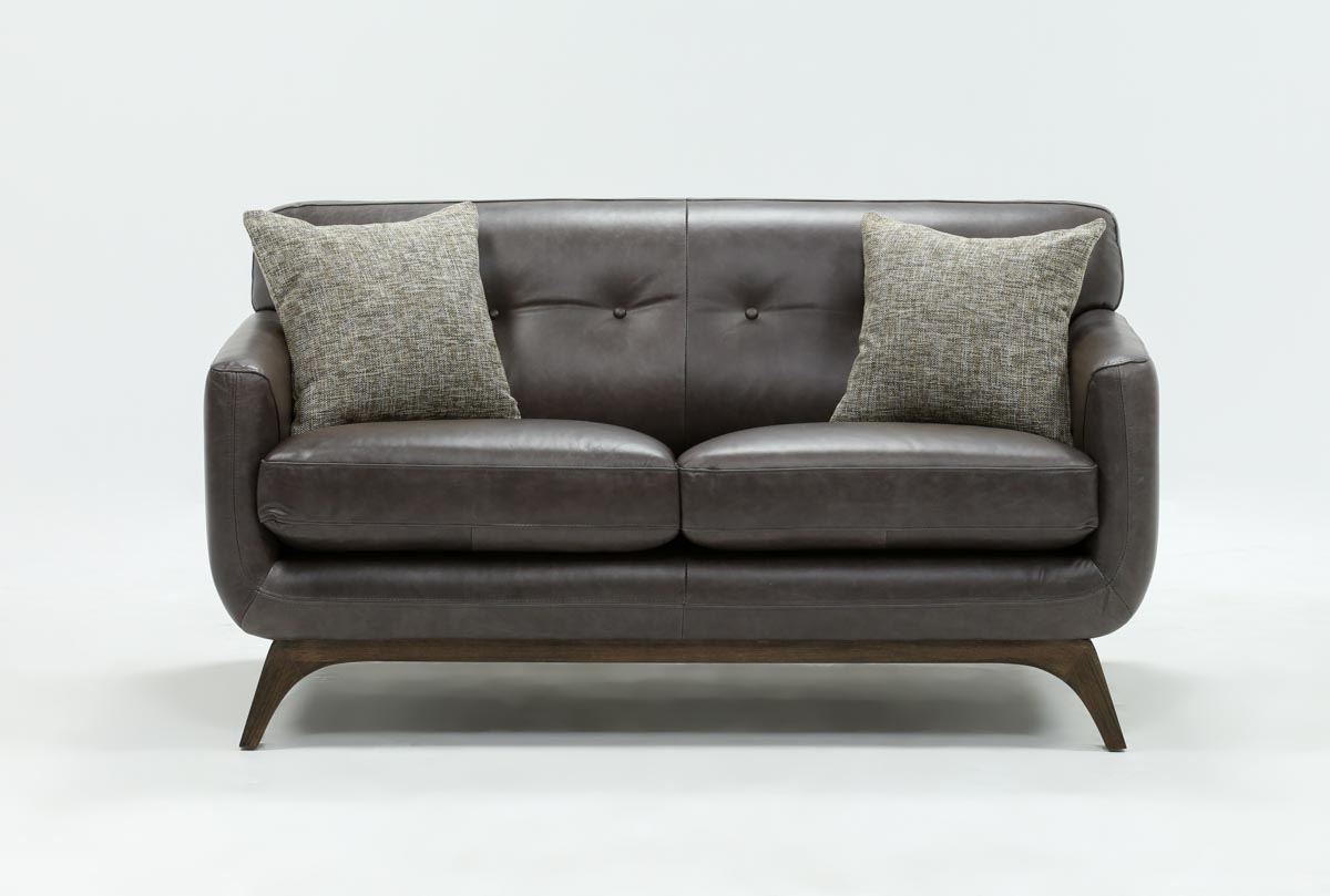 Living Spaces Throughout Newest Cosette Leather Sofa Chairs (View 3 of 20)