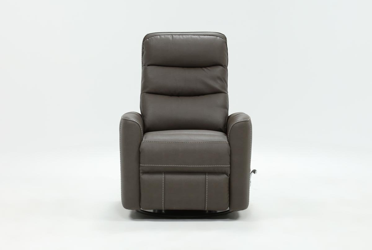 Living Spaces Within Hercules Grey Swivel Glider Recliners (Gallery 1 of 20)