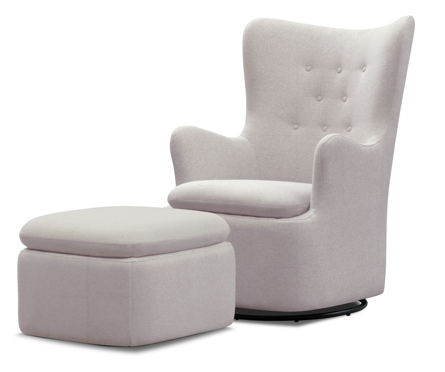 Loft Black Swivel Accent Chairs For Well Known Addie Swivel Chair And Ottoman Set – Gray (View 13 of 20)