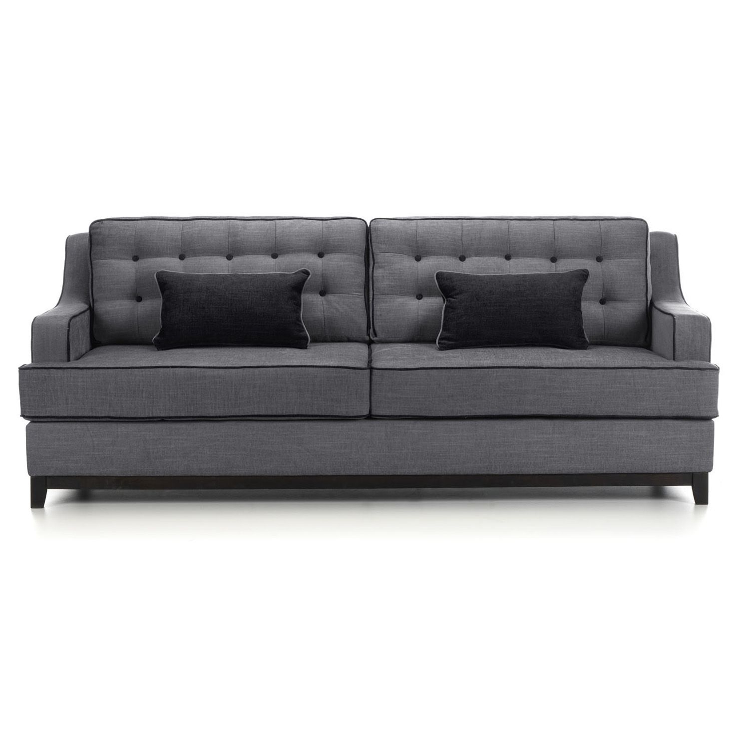 London Dark Grey Sofa Chairs In Fashionable London 3.5 Seater Sofa In Light Grey With Dark Grey Piping With (Gallery 4 of 20)