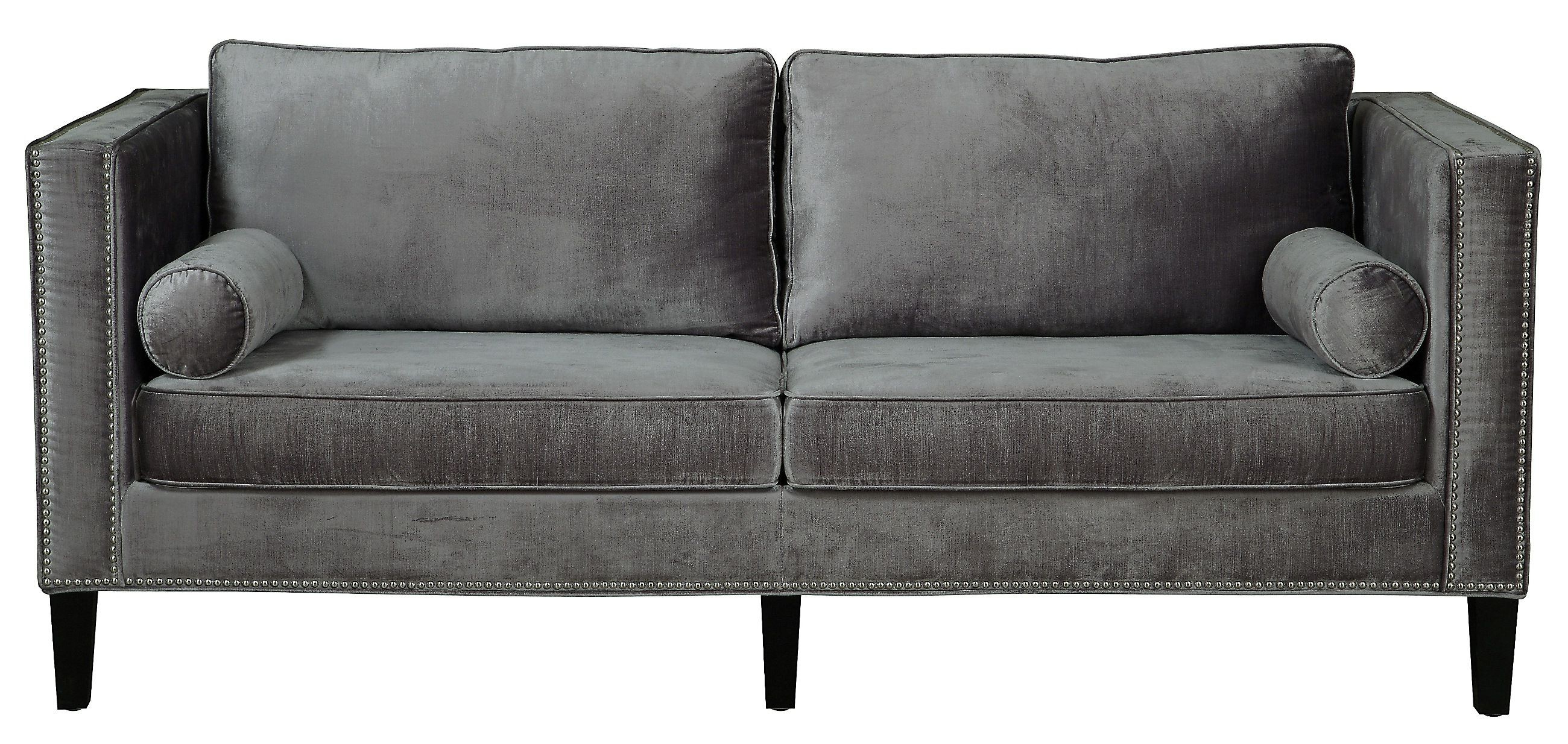 London Dark Grey Sofa Chairs Regarding Trendy Grey Velvet Sofa Sets Farmhousegray With Nailhead Trimgrey Farmhouse (View 13 of 20)