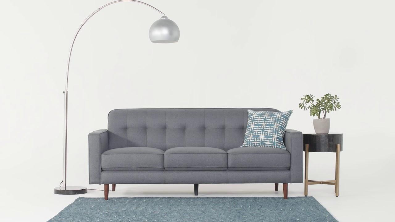 London Dark Grey Sofa (View 3 of 20)