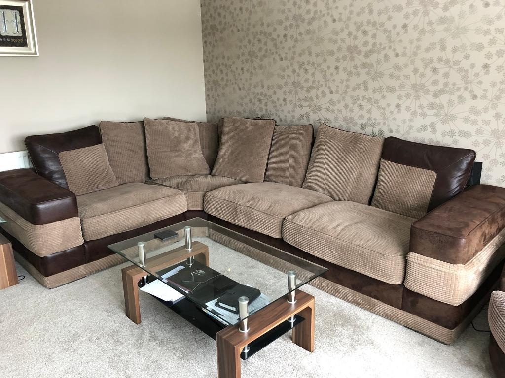 Lovely 5 Seat Corner Sofa, Swivel Chair & Footstool (View 3 of 20)