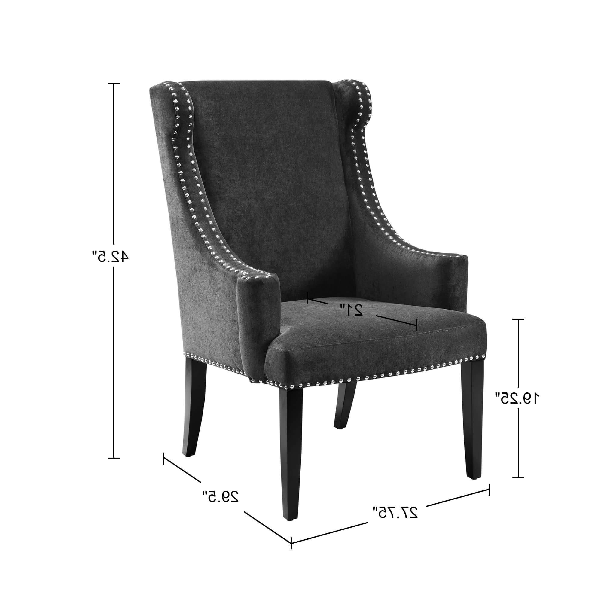 Lucy Dark Grey Sofa Chairs With Most Recently Released Shop Madison Park Lucy Blue High Back Wing Chair – Free Shipping (View 12 of 20)