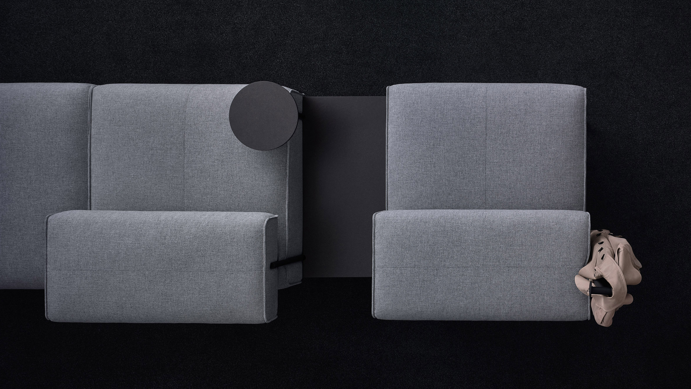 """Lucy Grey Sofa Chairs Inside Trendy Lucy Kurrein's Modular Sofa """"rejects The Conventional Working (Gallery 18 of 20)"""
