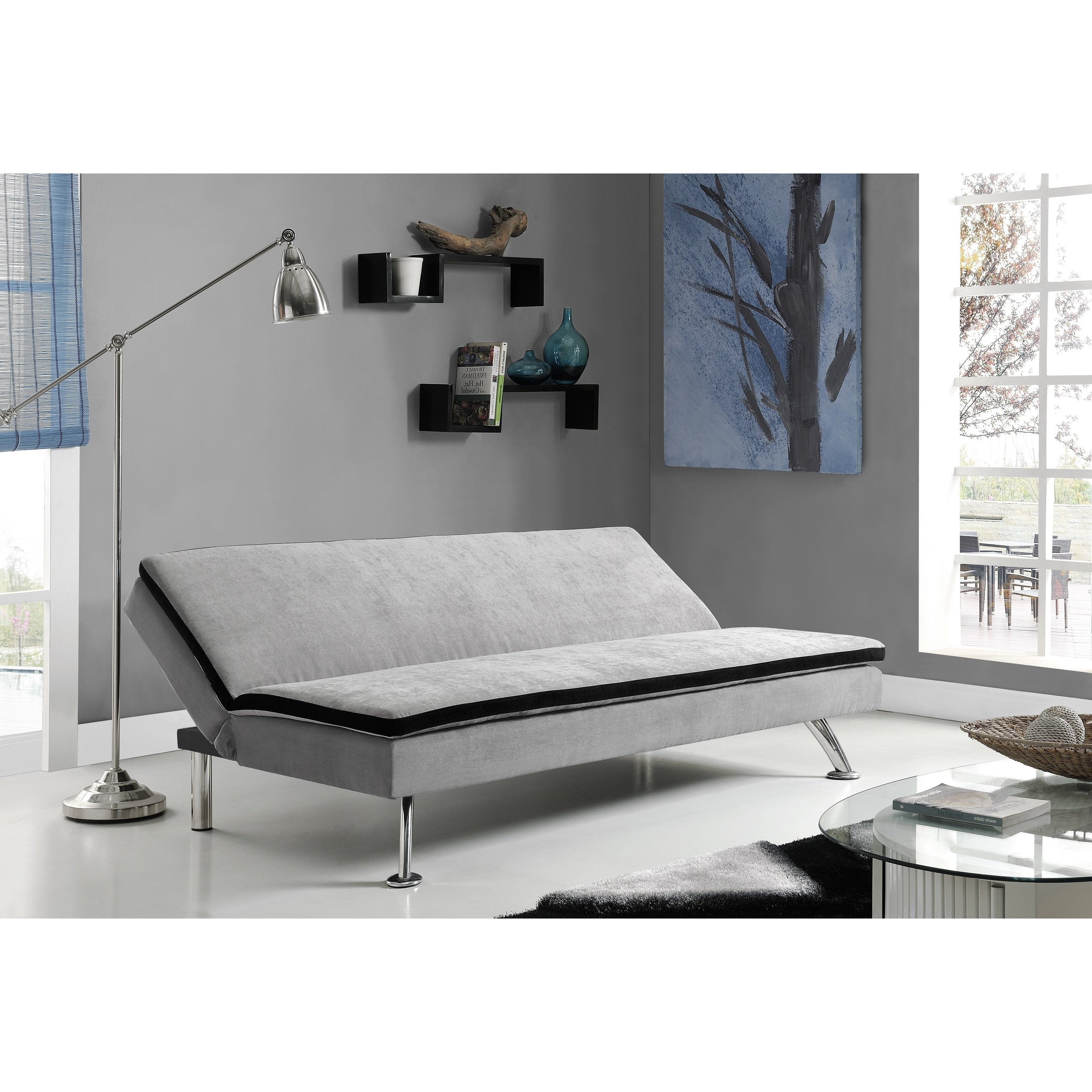 Maddox Oversized Sofa Chairs Pertaining To Favorite Shop Dhp Maddox Futon Sofa Sleeper – Free Shipping Today – Overstock (Gallery 16 of 20)