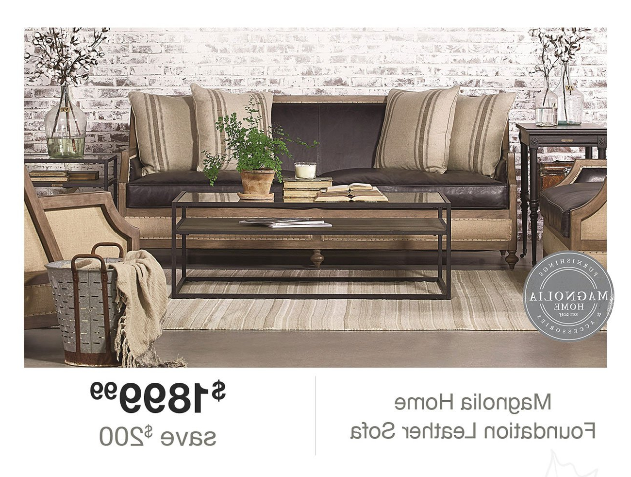 Magnolia Home Foundation Leather Sofa Chairs For Trendy Expired Email: Hi Angela, Click Here To Make Your Home A Magnolia (View 4 of 20)