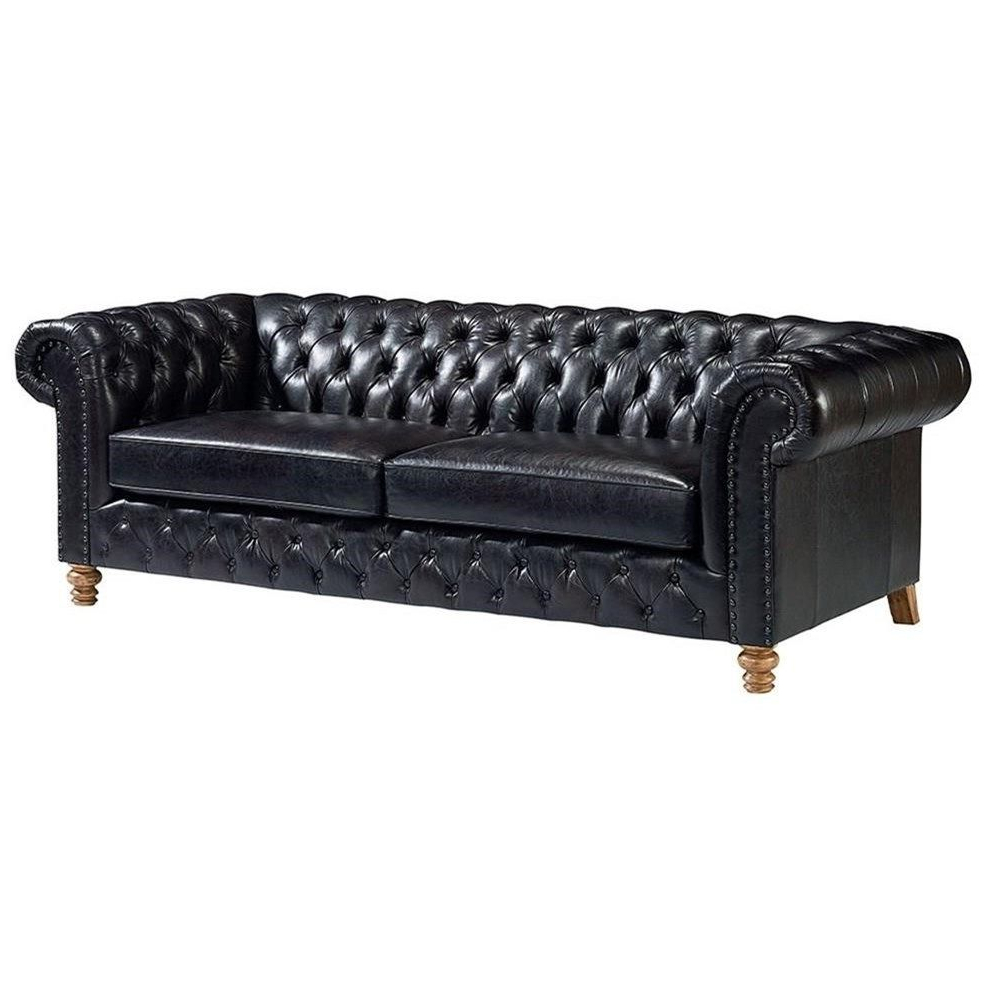 Magnolia Home Foundation Leather Sofa Chairs In Favorite Well Seasoned Well Seasoned Sofa With Diamond Button Tufting (View 11 of 20)