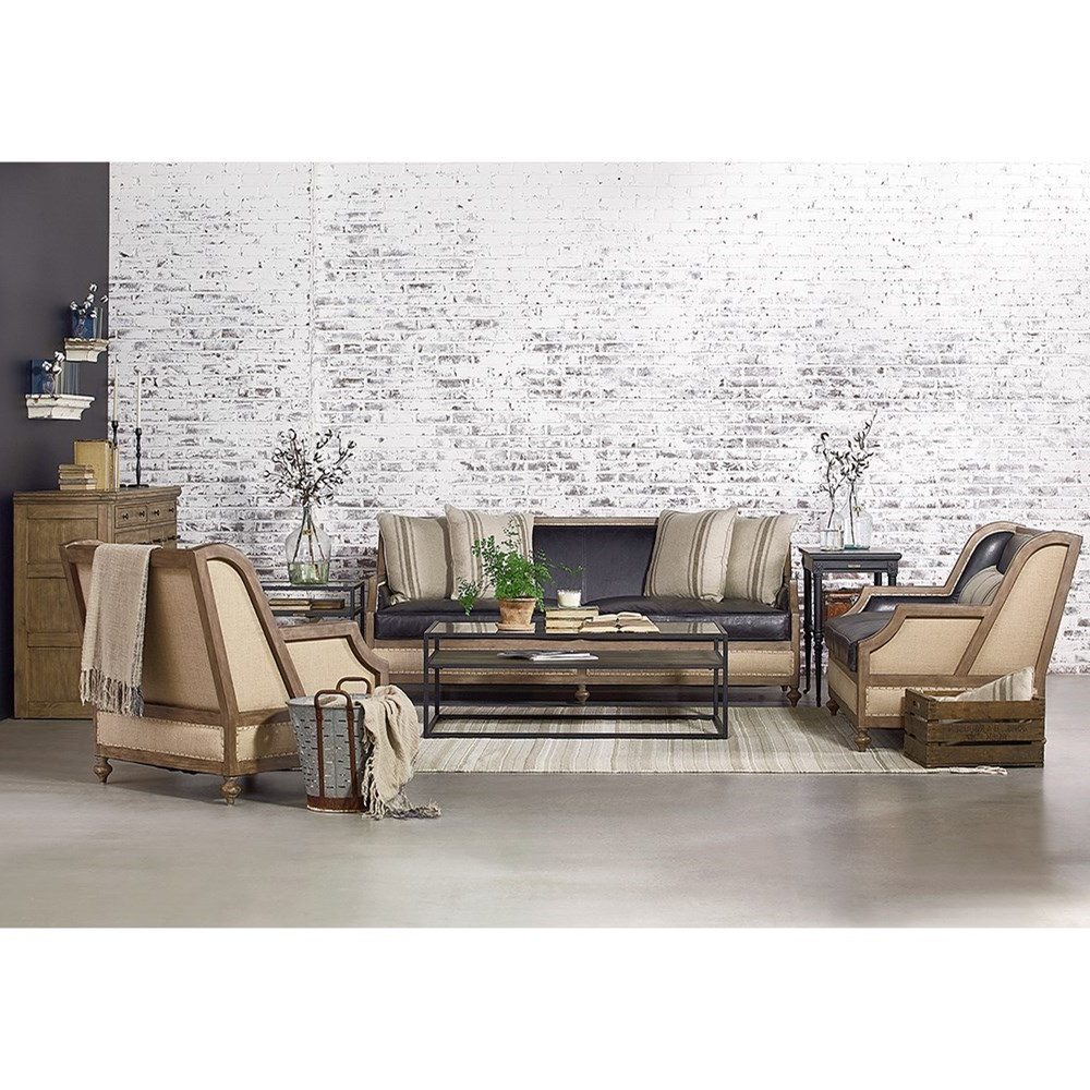 Magnolia Home Paradigm Sofa Chairs By Joanna Gaines For Well Known Foundation Sofa With Exposed Frame And Five Accent Pillows (View 9 of 20)