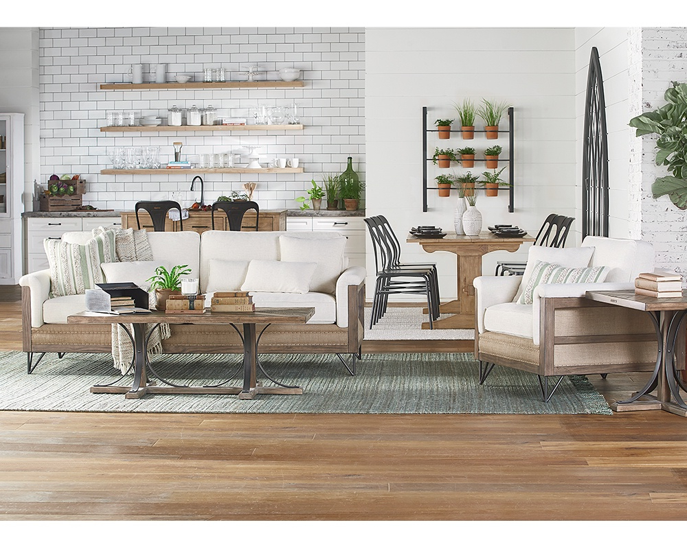 Magnolia Home Ravel Linen Sofa Chairs Throughout Latest Living Room – Magnolia Home (View 11 of 20)