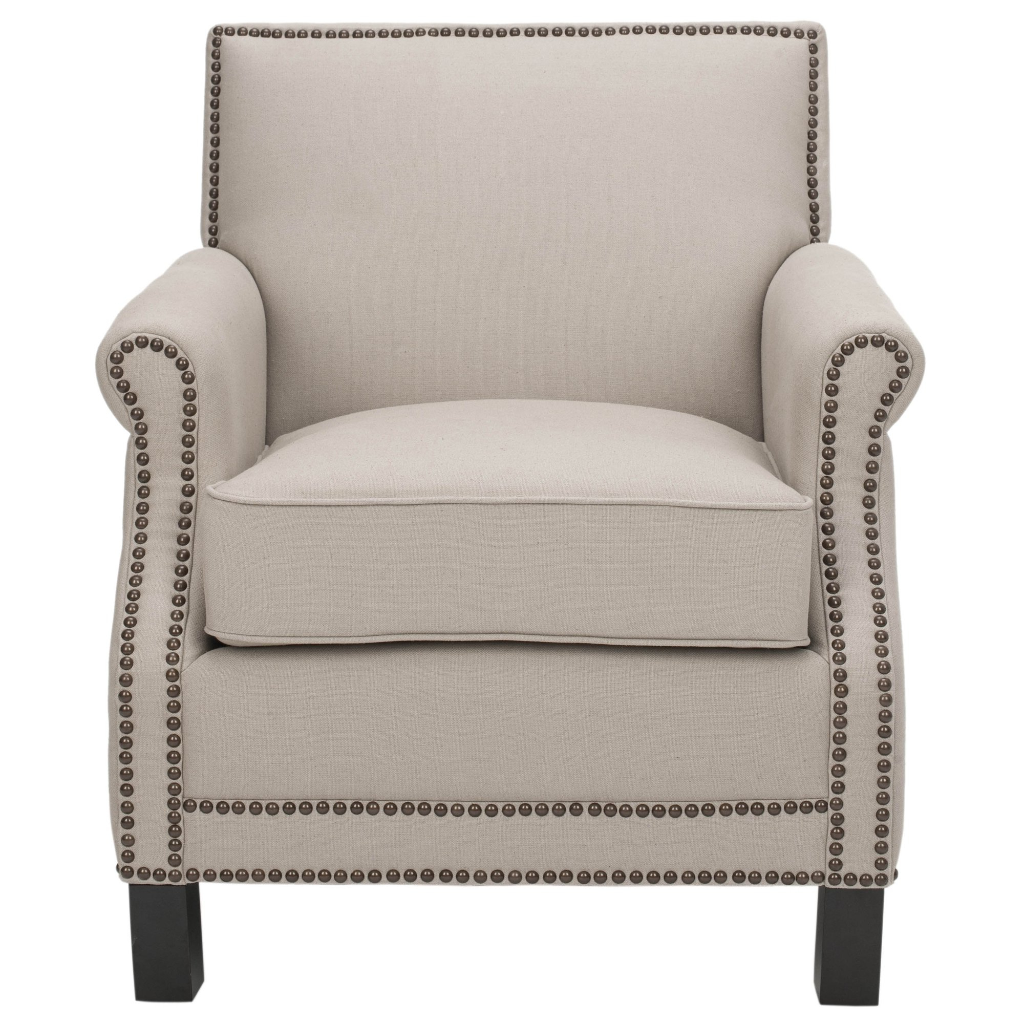 Mansfield Beige Linen Sofa Chairs Regarding 2018 Shop Safavieh Mansfield Beige Club Chair – Free Shipping Today (View 5 of 20)