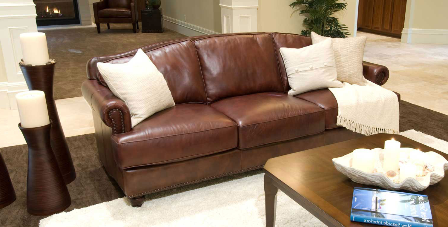 Mansfield Cocoa Leather Sofa Chairs Regarding Preferred Elements Fine Home Furnishings Mansfield Top Grain Leather Sofa (Gallery 8 of 20)