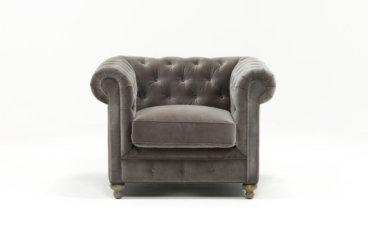 Mansfield Graphite Velvet Chair (View 10 of 20)