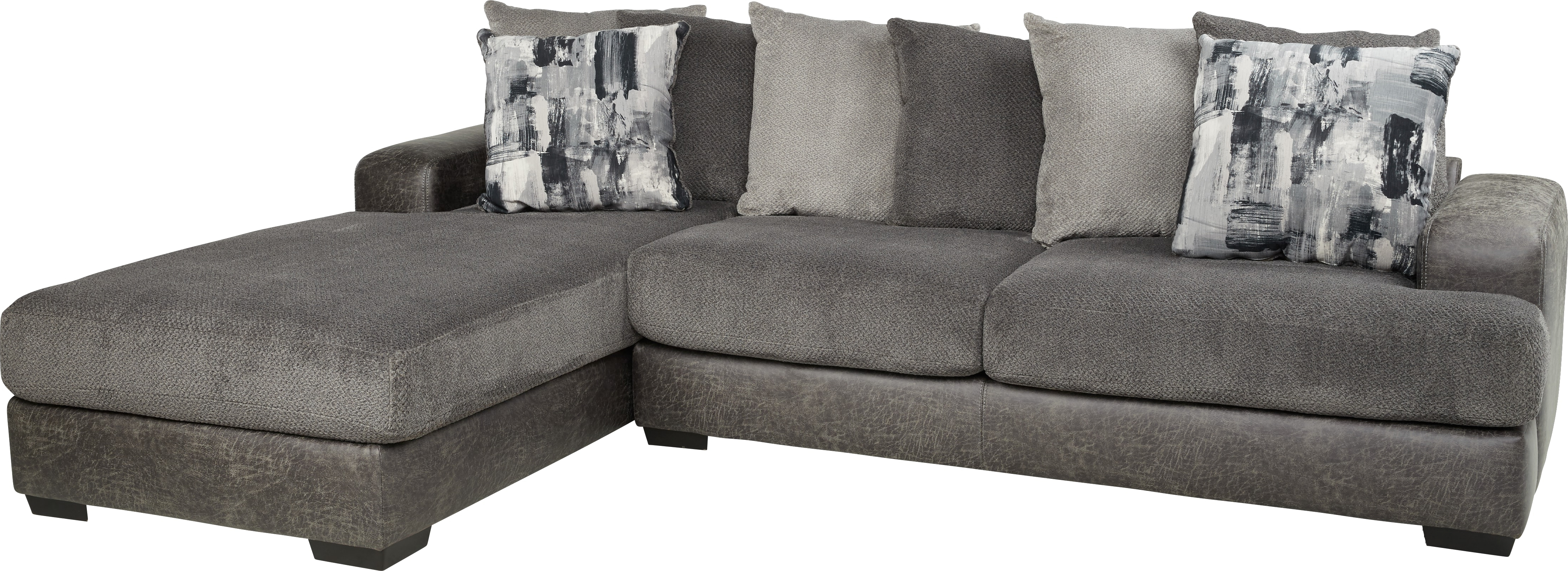 Mcdade Graphite Sofa Chairs Pertaining To Well Liked Foster Square Graphite 2 Pc Sectional – Living Room Sets (gray) (View 5 of 20)