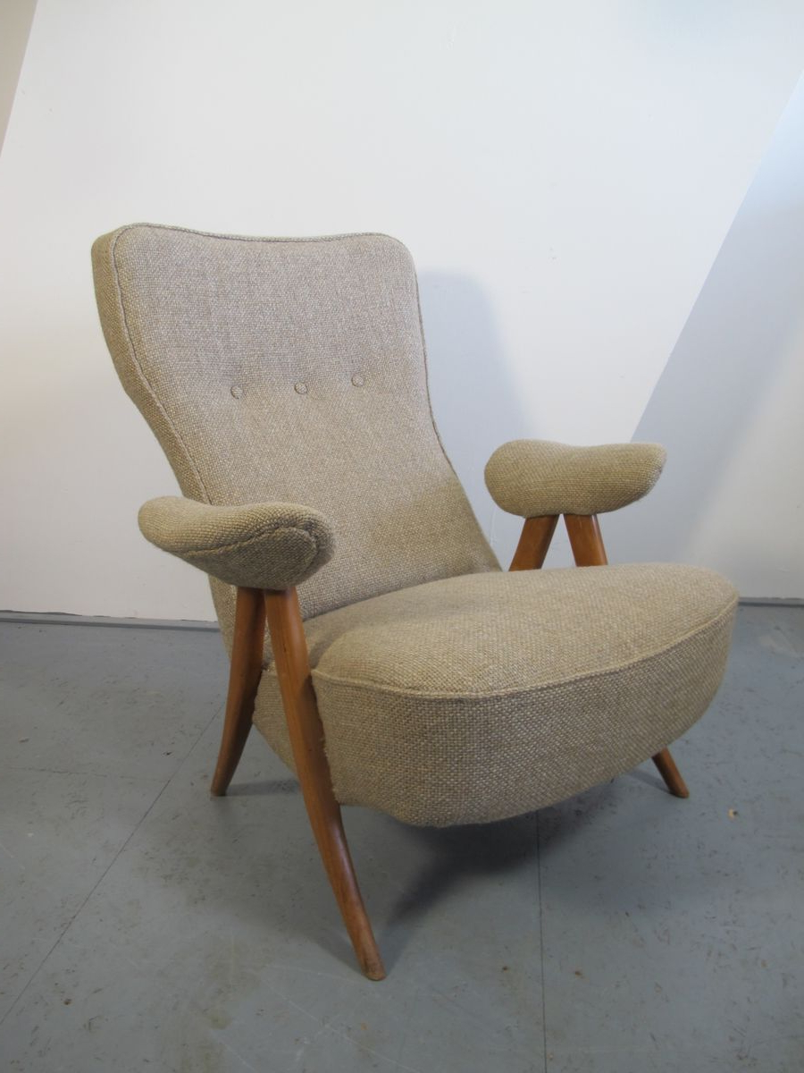 Mid Century Lounge Chairstheo Ruth For Artifort, 1950S, Set Of 2 Regarding 2018 Theo Ii Swivel Chairs (Gallery 18 of 20)