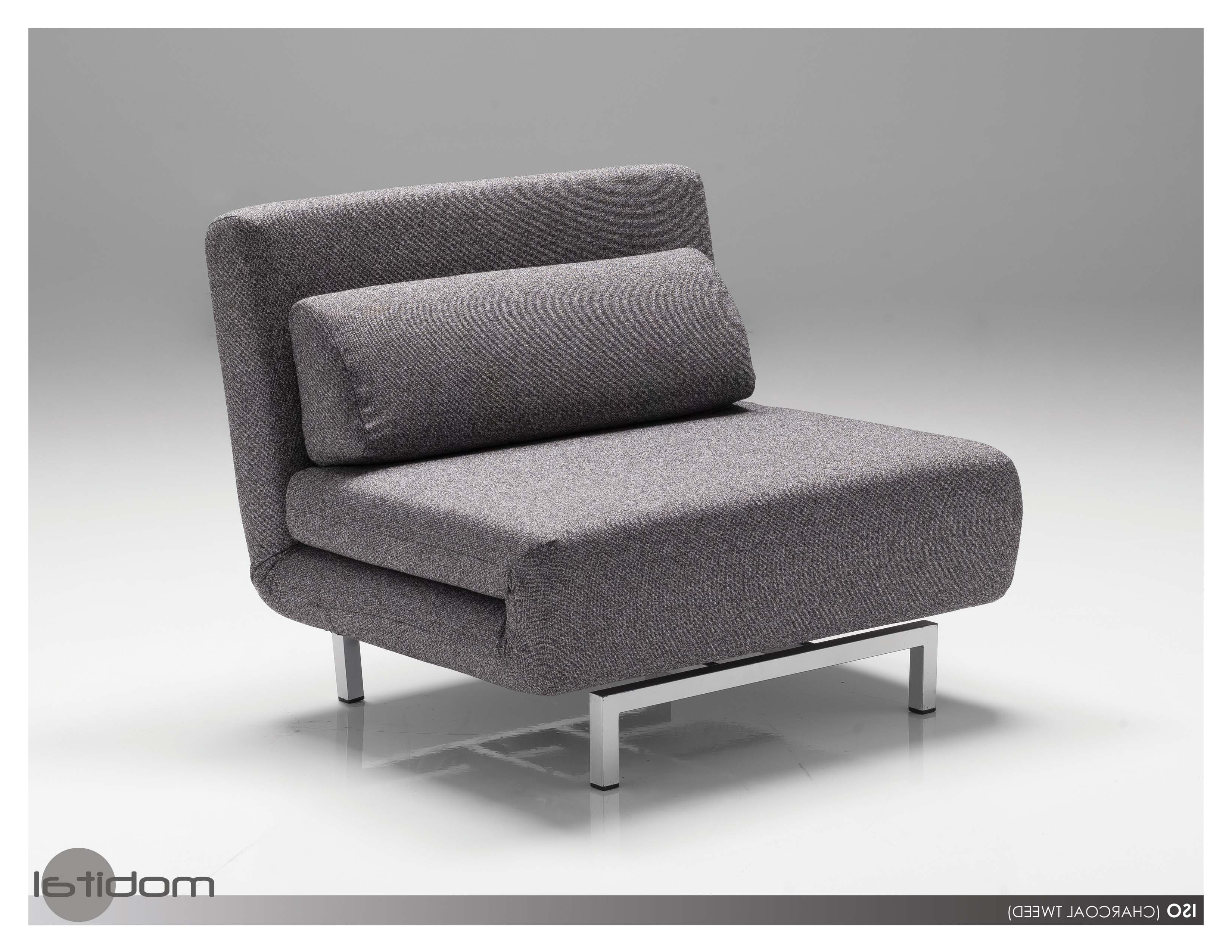 Mobital Iso Sofabed Single Modern Furnishings Inside Well Known Single Chair Sofa Bed (Gallery 7 of 20)