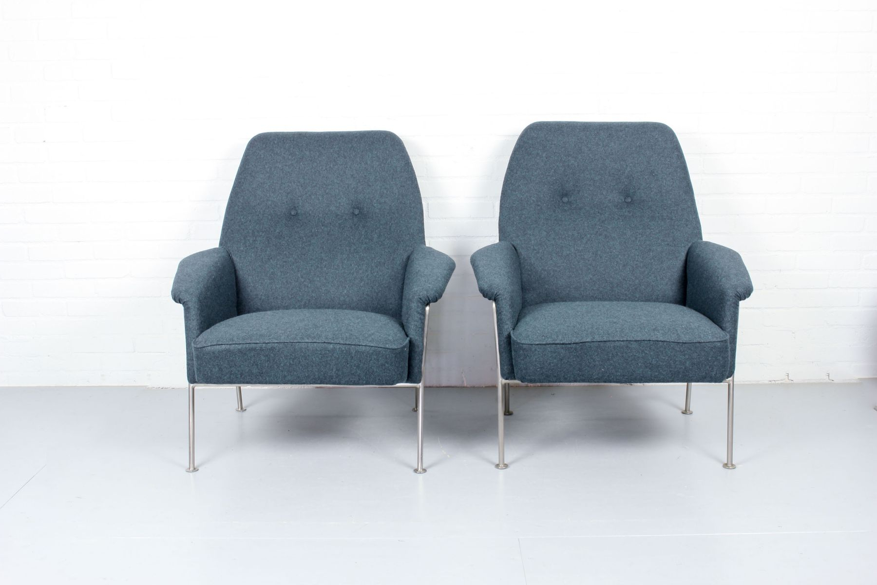 Model 162 Lounge Chairstheo Ruth For Artifort, 1950S, Set Of 2 Inside Most Popular Theo Ii Swivel Chairs (View 7 of 20)