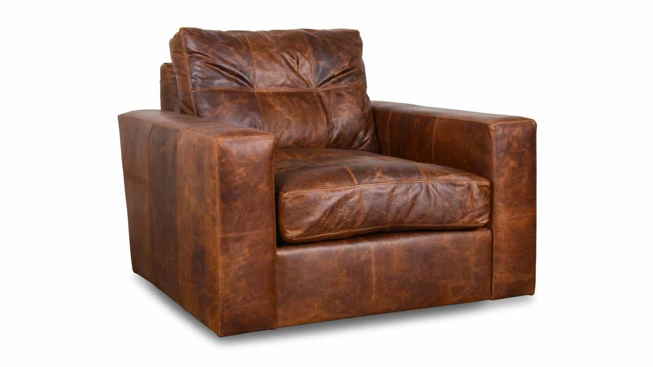 Modern Monroe Leather Swivel Chair – Made In Usa (View 11 of 20)