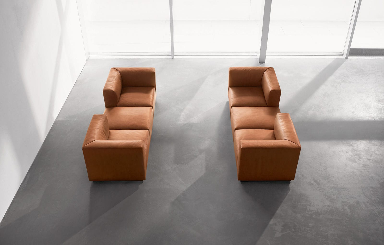 Modular Sofa / Contemporary / Leather / 7 Seater And Up – Living Throughout Most Recently Released Walter Leather Sofa Chairs (View 4 of 20)