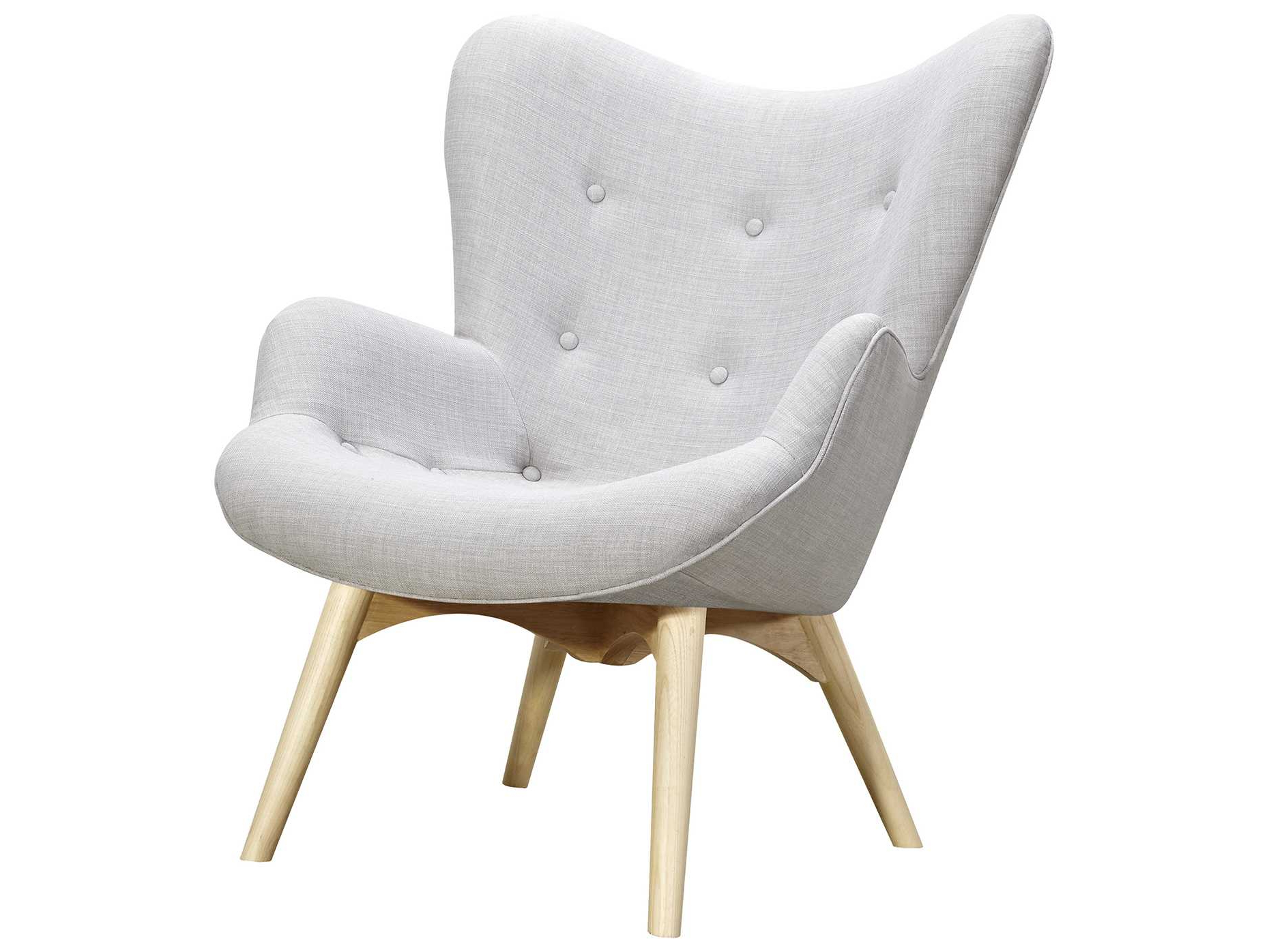 Most Current Aidan Ii Swivel Accent Chairs Pertaining To Nyekoncept Aiden Glacier White Accent Chair & Ottoman With Natural (View 16 of 20)