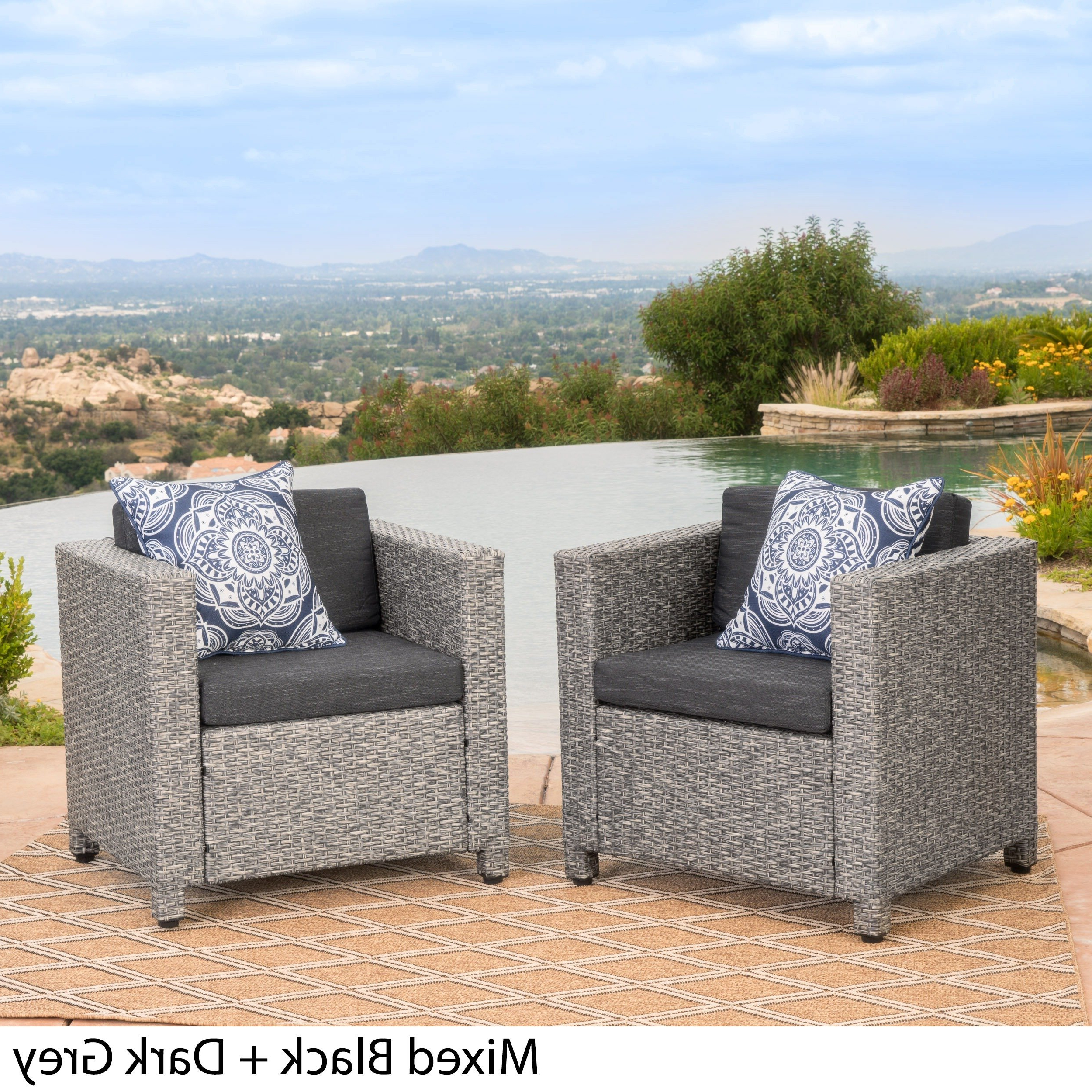 Most Current Alder Grande Ii Swivel Chairs Within Buy Grey, 2 Outdoor Sofas, Chairs & Sectionals Online At Overstock (View 9 of 20)