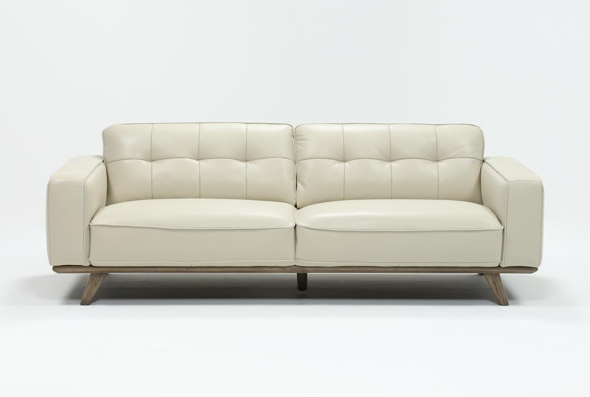 Most Current Caressa Leather Dove Grey Sofa (View 9 of 20)