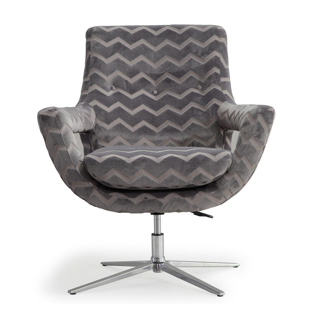 Most Current Grey Swivel Chairs Within Tov Furniture Fifi Grey Swivel Chair Tov S6118 – The Home Depot (Gallery 17 of 20)