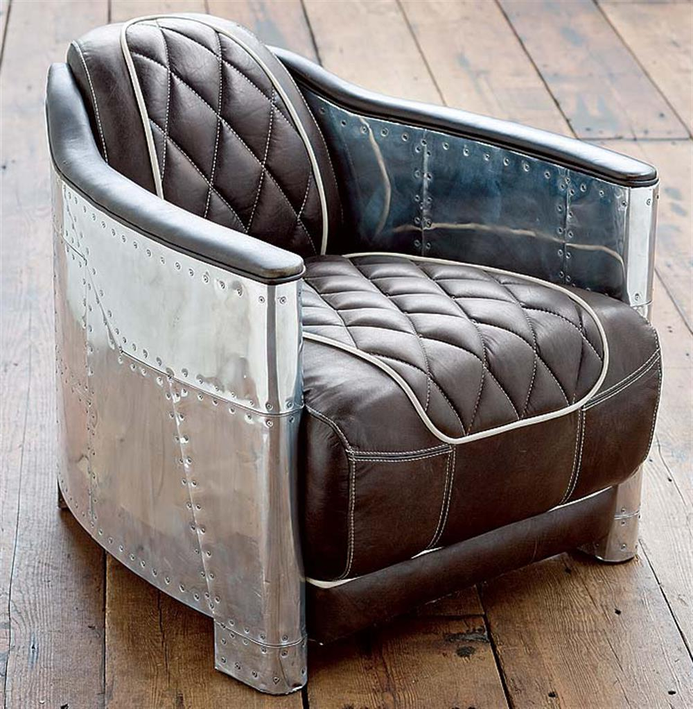 Most Current Loft Arm Sofa Chairs Within Aarnio Industrial Loft Aluminum Espresso Black Leather Arm Chair (View 10 of 20)