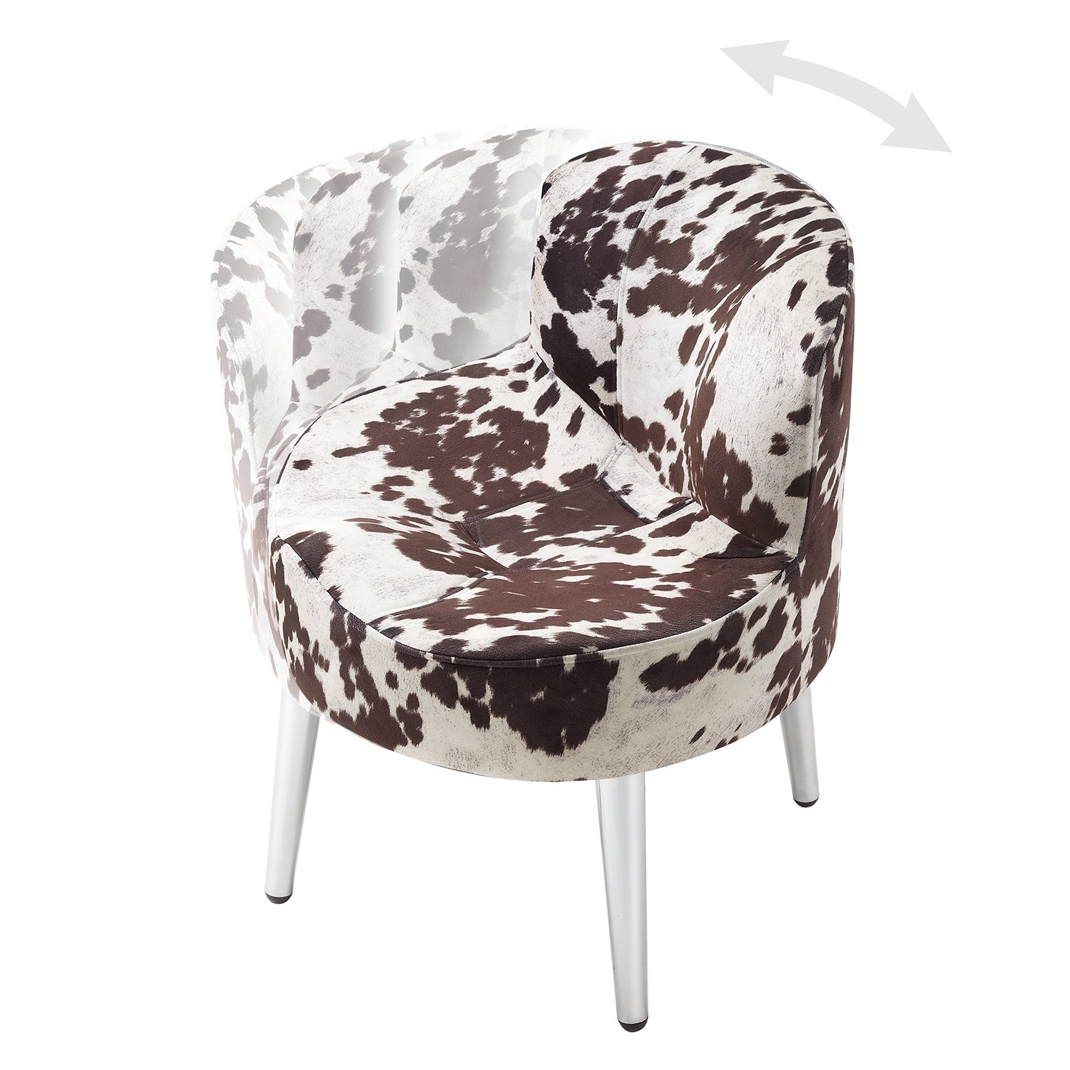 Most Current Shop Tribecca Home Bridgeport Ergonomic Contour Cowhide Fabric Regarding Circuit Swivel Accent Chairs (View 20 of 20)