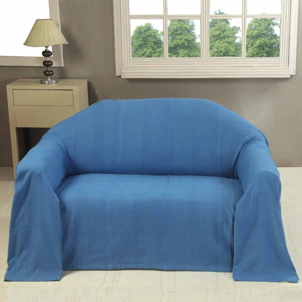 Most Current Throws For Sofas And Chairs Intended For Rajput Extra Large Cotton Throws For Sofas Settee Bedspread Bed (View 3 of 20)