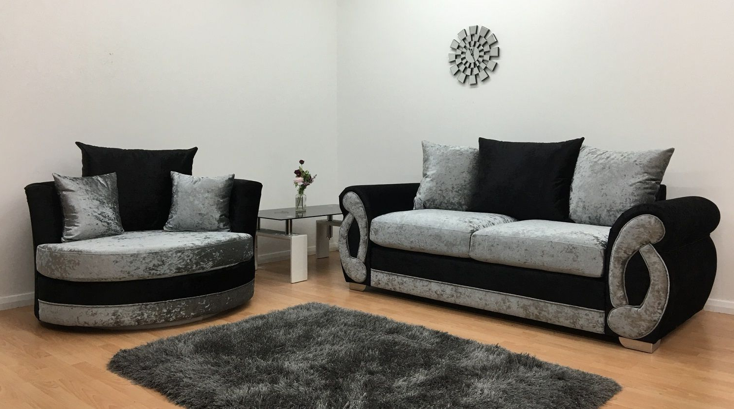 Most Popular 3 Seater Sofa And Cuddle Chairs For Furnish (View 2 of 20)