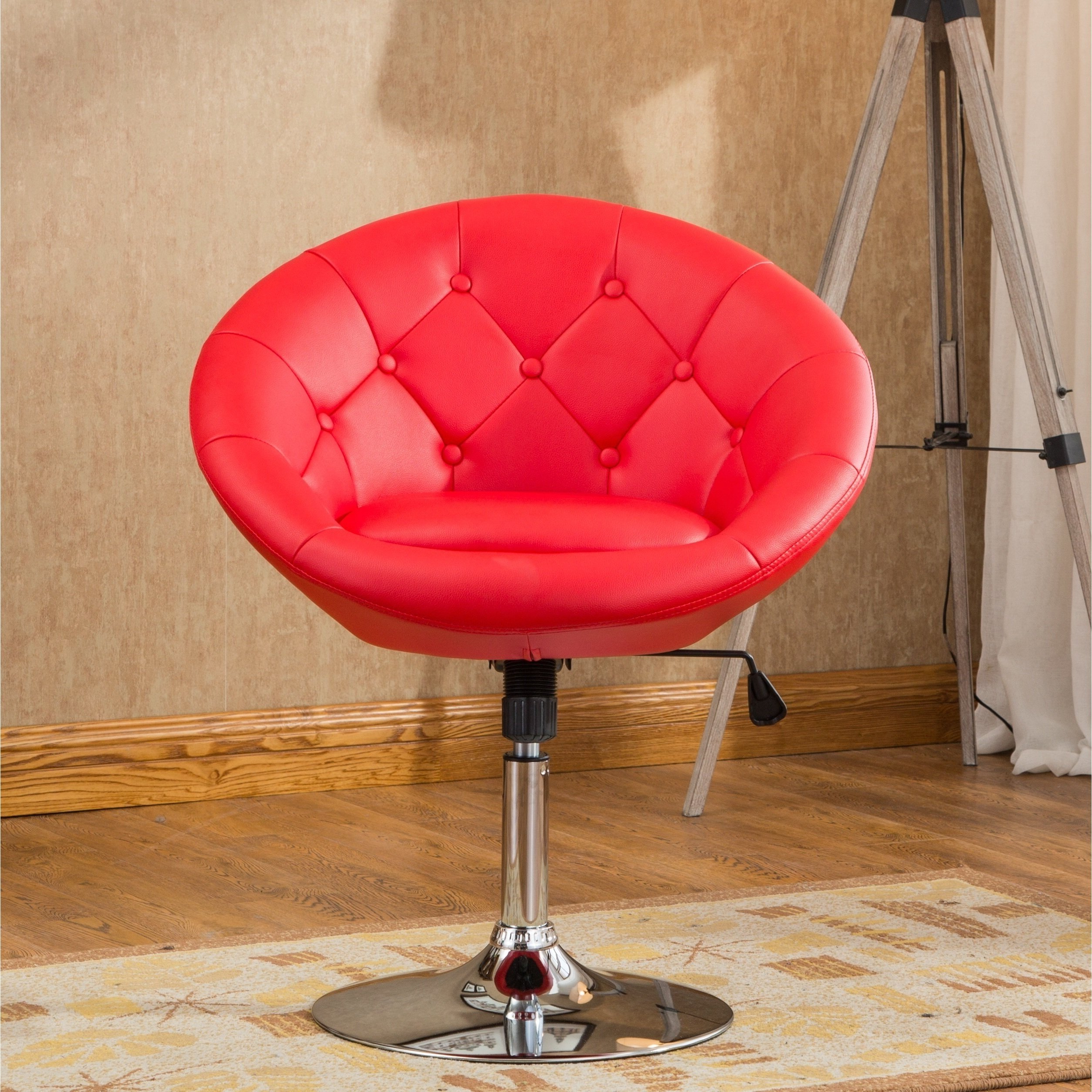 Most Popular Buy Red, Bonded Leather Living Room Chairs Online At Overstock For Alder Grande Ii Swivel Chairs (View 11 of 20)