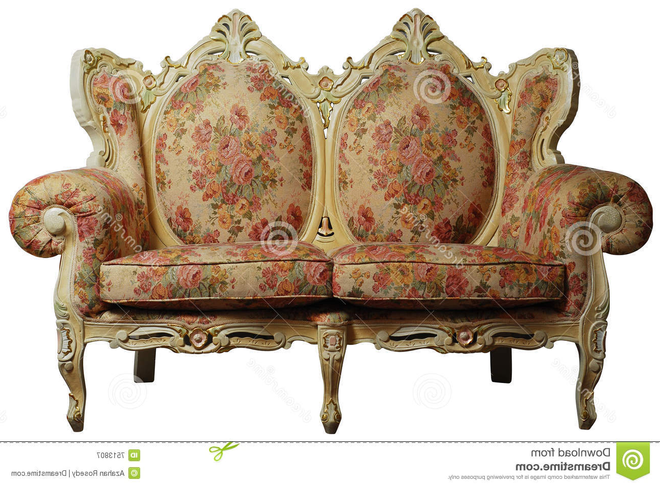 Most Popular Classical Sofa Chair W/ Clipping Path Stock Image – Image Of Classic Within Antique Sofa Chairs (Gallery 15 of 20)