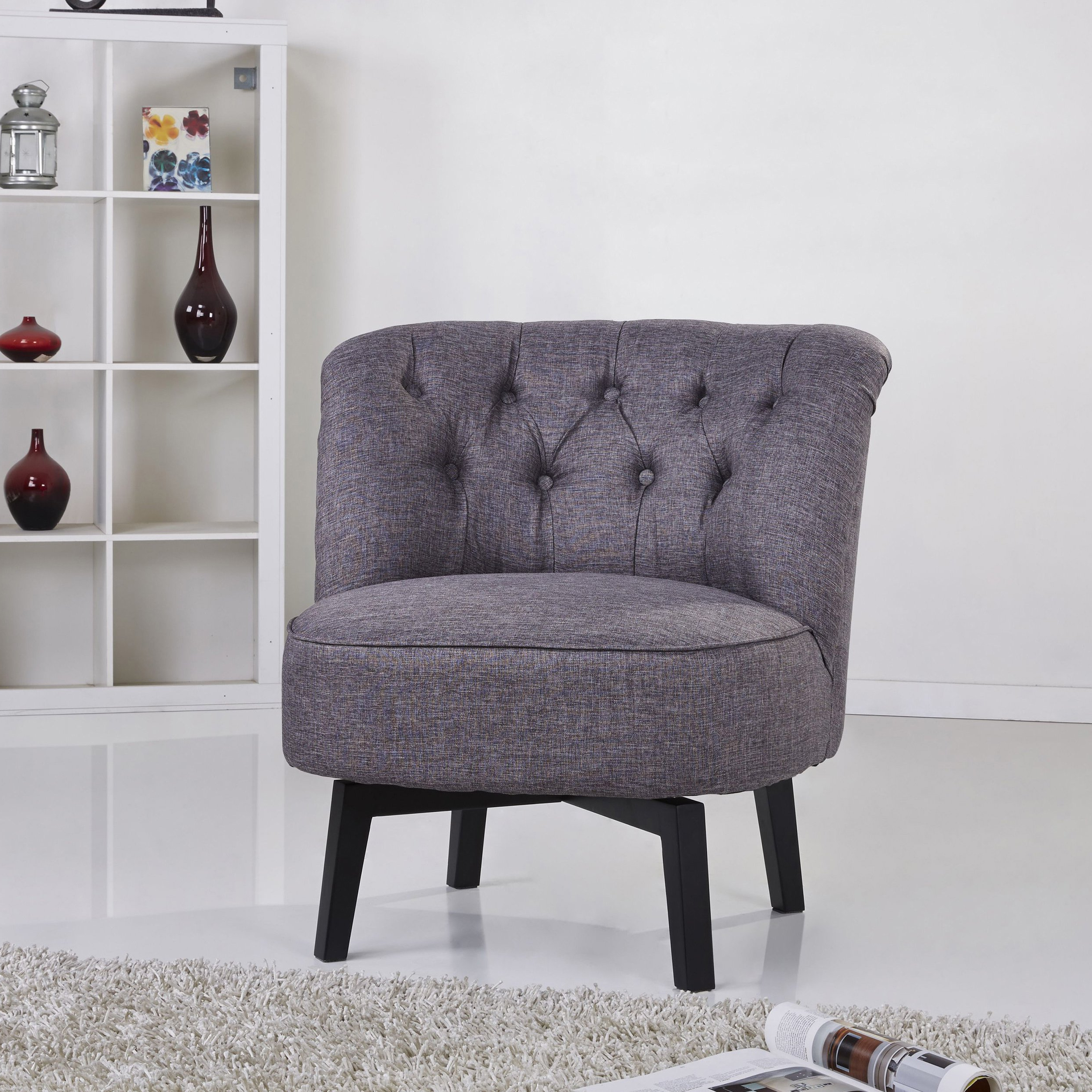 Most Popular Dark Grey Swivel Chairs In Shop Gold Sparrow Raleigh Dark Grey Swivel Chair – Free Shipping (View 20 of 20)