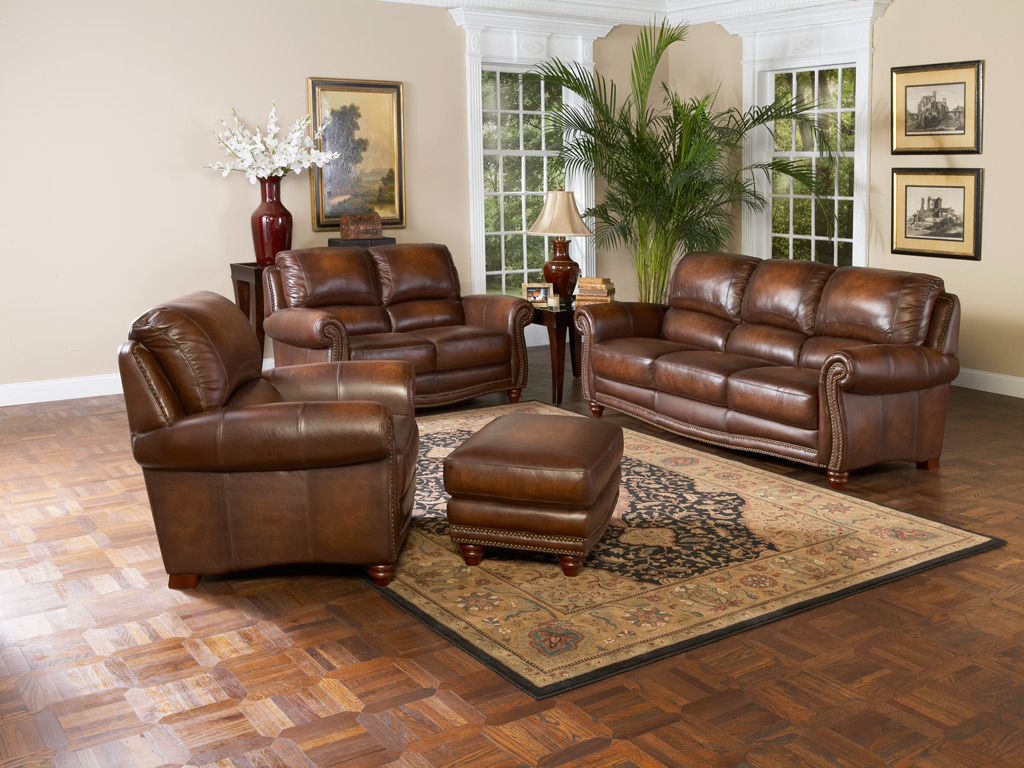 Most Popular Living Room Sofas And Chairs With Regard To Tips On Choosing The Leather Sofa Set For Your Living Room – Elites (View 16 of 20)