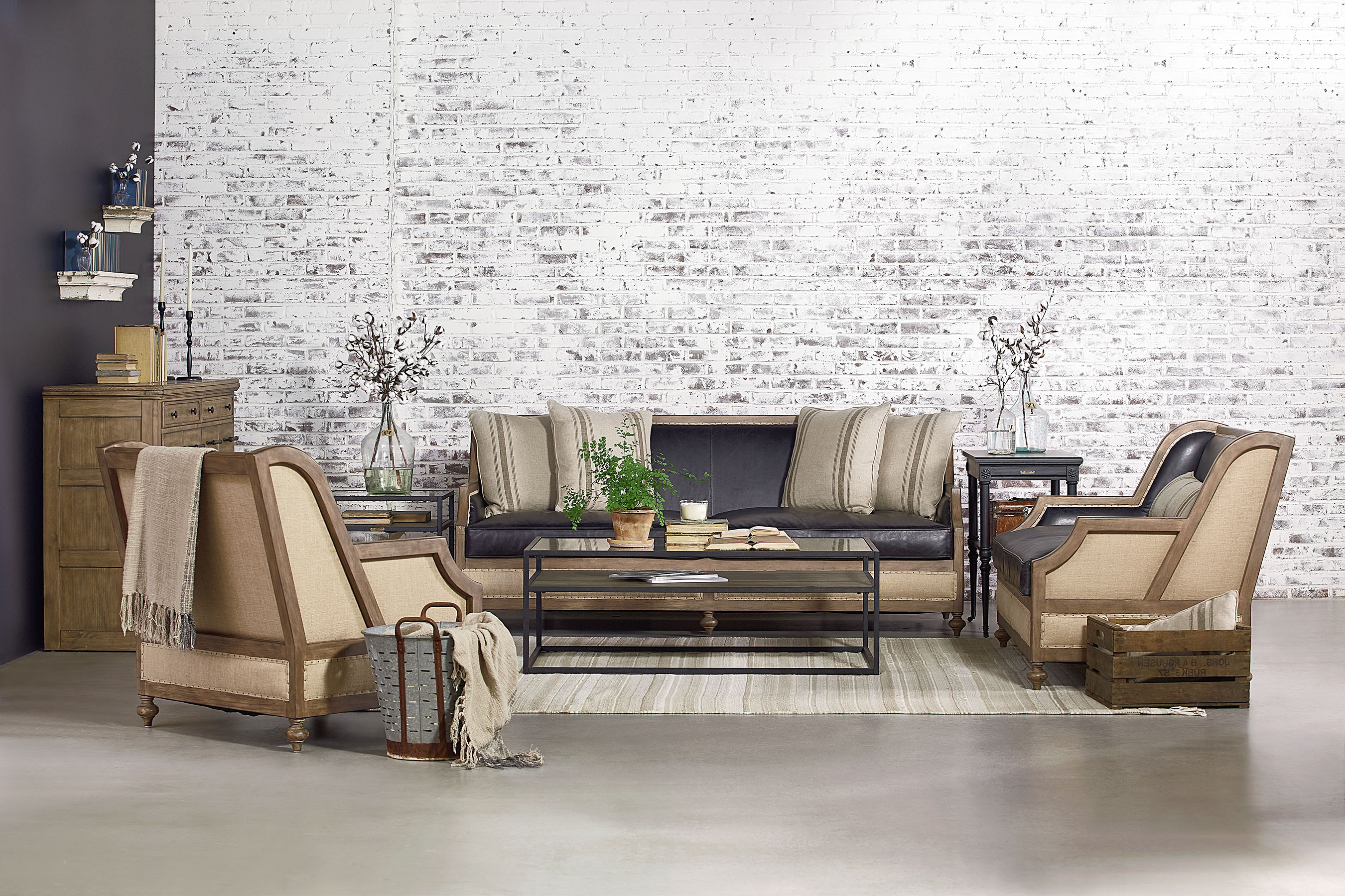 Featured Photo of Magnolia Home Foundation Leather Sofa Chairs