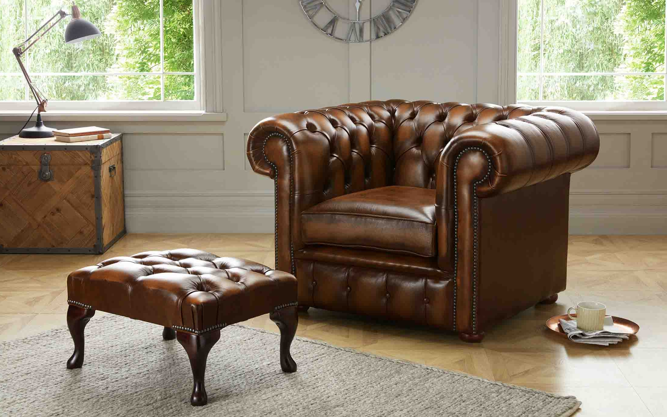 Most Recent Chesterfield Sofa And Chairs In Chesterfield Sofa And Chair For Sale (View 14 of 20)
