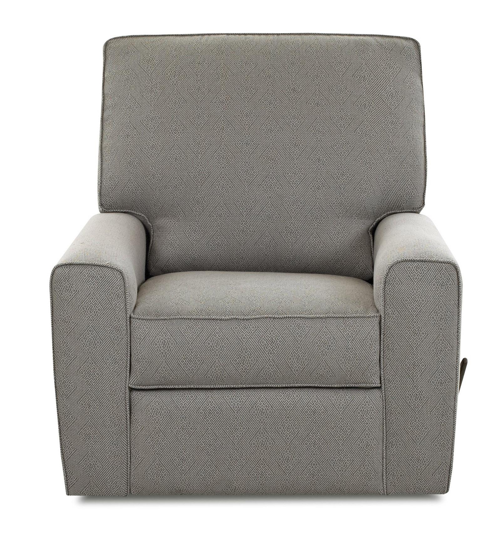 Most Recent Klaussner Hannah Transitional Swivel Gliding Reclining Chair With Throughout Bailey Roll Arm Skirted Swivel Gliders (View 16 of 20)
