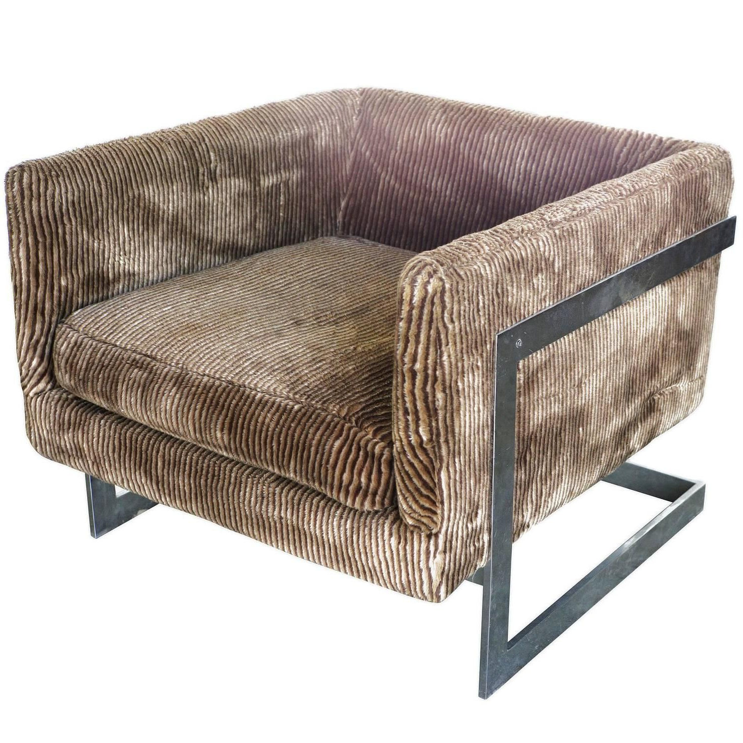 Most Recent Milo Baughman Floating Cube Club Chair For Thayer Coggin **saturday For Milo Sofa Chairs (View 13 of 20)