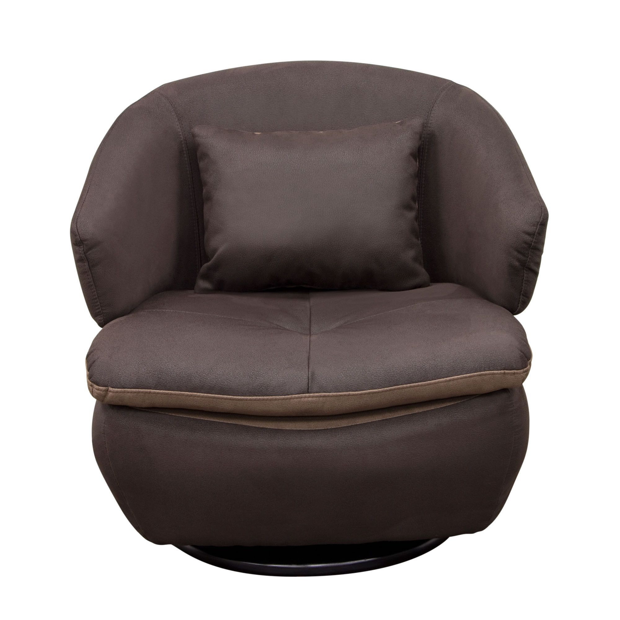 Most Recent Rio Swivel Accent Chair In Brown Fabricdiamond Sofa (View 2 of 20)