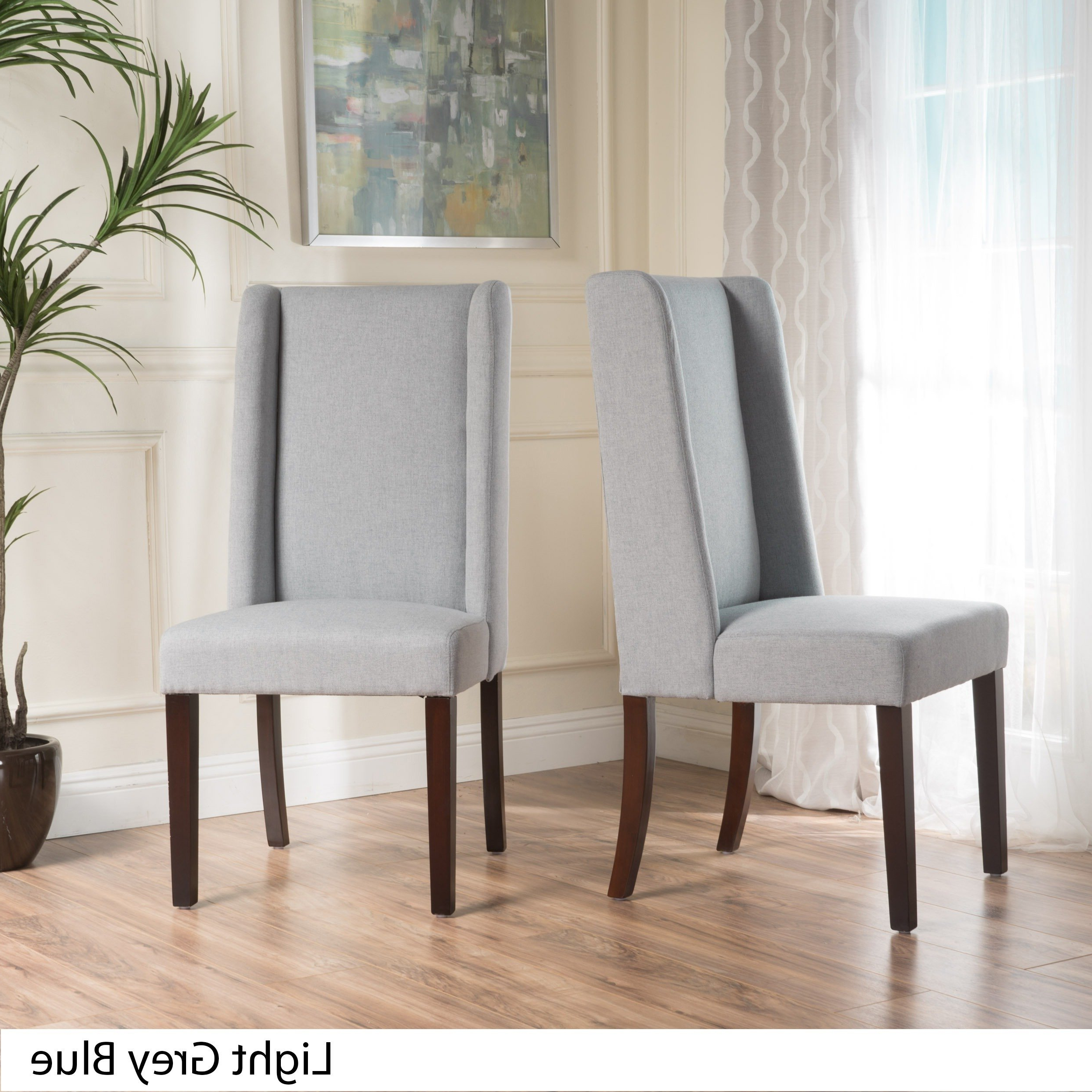 Most Recent Shop Rory Wing Back Fabric Dining Chair (set Of 2)christopher Throughout Rory Sofa Chairs (View 14 of 20)