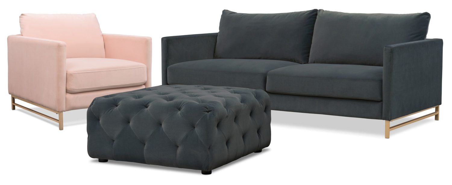 Most Recent Sofa Chair And Ottoman In Alex Sofa, Chair And Ottoman Set (View 12 of 20)