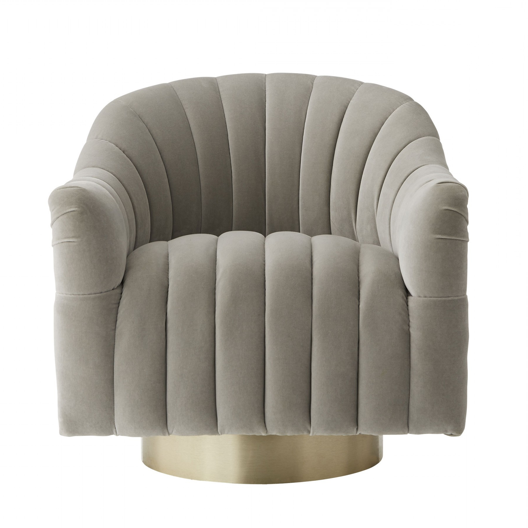 Most Recent Springsteen Chair Flint Velvet Champagne Swivel Intended For Harbor Grey Swivel Accent Chairs (View 5 of 20)